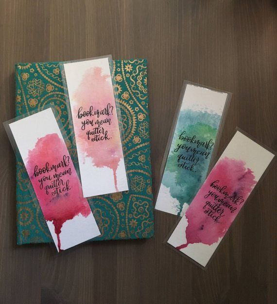 Watercolor Bookmark Bookmarks Handmade Watercolor Bookmarks