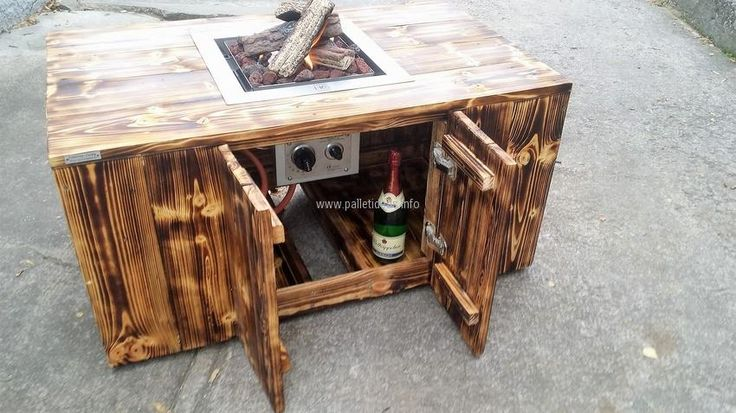 There you can see the buttons to adjust the fire, it is a unique idea because the coffee tables with the fire pit are not usually available and creating it will be a great accomplishment for the unique decoration of the home. So, try this idea to enjoy the winter season while gossiping with friends in the garden of the home.