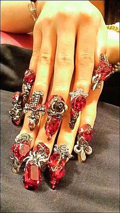 13 best nails images on pinterest china glaze nail polish 32 the vampire diaries nail art ideas prinsesfo Gallery