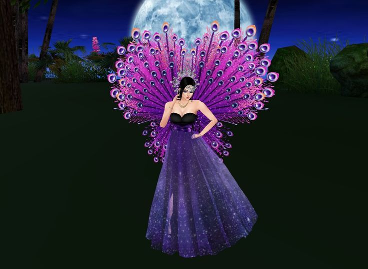"""""""Purple Peacock""""  is todays featured photo! Think you can put together a cooler outfit? Come and join us on IMVU! 3D chat and extensive catalogue items allow you to be who you wanna be! Come try it now! It's free! :D"""