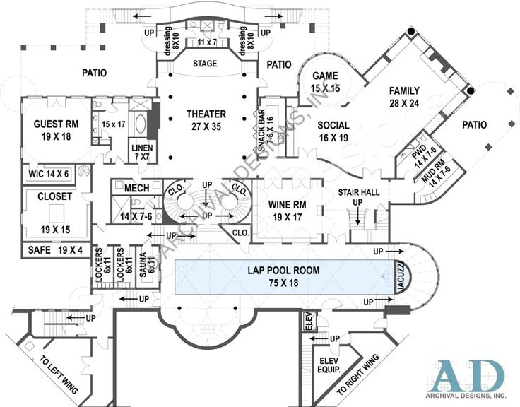 25 best ideas about basement floor plans on pinterest waterfront house plans best selling waterfront home plan