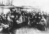 """Passenger records, NSW: Find information about passengers arriving in New South Wales (Image: Migrants from England to Australia aboard the """"Eaton Hall""""). From The State Library of NSW collection http://acms.sl.nsw.gov.au/item/itemDetailPaged.aspx?itemID=390111"""