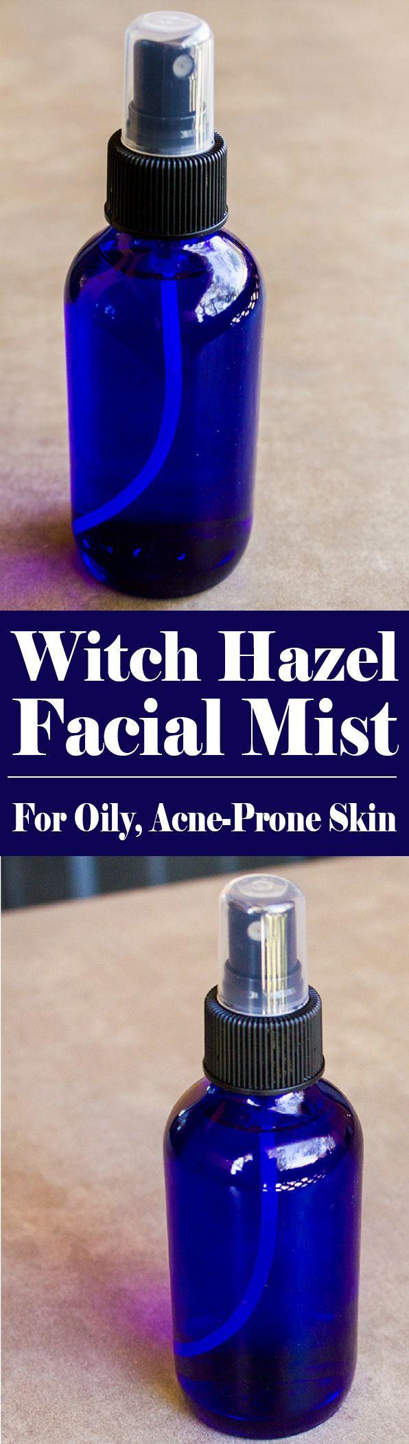 Witch Hazel for Acne-Prone Skin   Witch Hazel Facial Mist   http://homemadeforelle.com