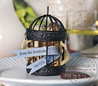 Miniature Metal Bird Cage for table decor