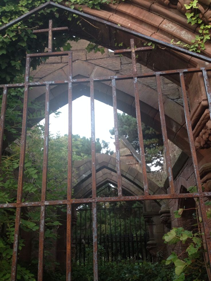 Gates to the old #abandoned #catacombs at #Anfield #cemetery in #Liverpool