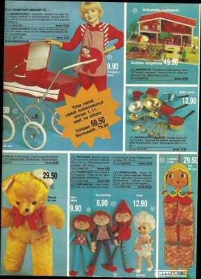 Toys from Anttila in 70's
