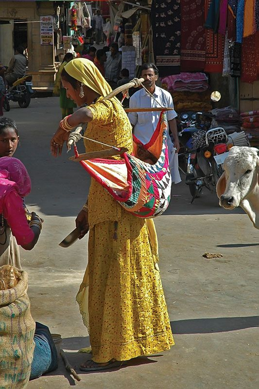 "Baby ""sling"" in India"