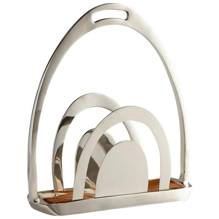 Placeholder Contemporary Polished Nickel Magazine Rack by Cyan Design