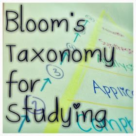 Bloom's Taxonomy for Studying, 6 Steps for More Effective Studying,