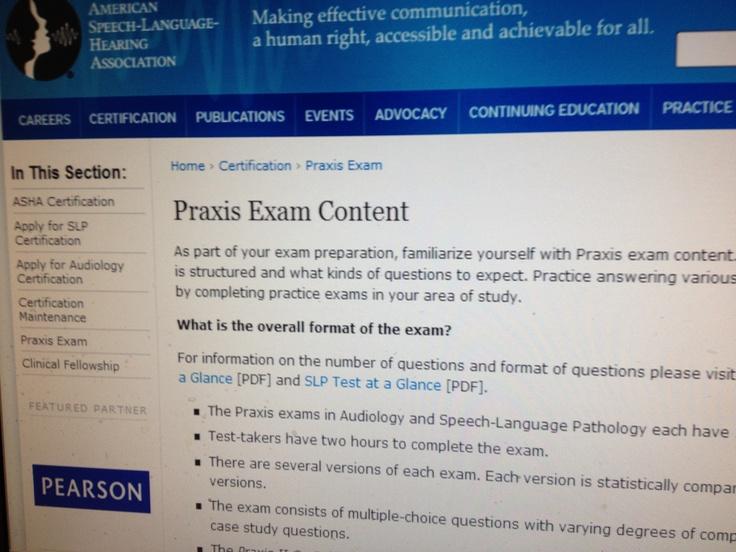 21 best SLP Praxis Information/Resources images on Pinterest