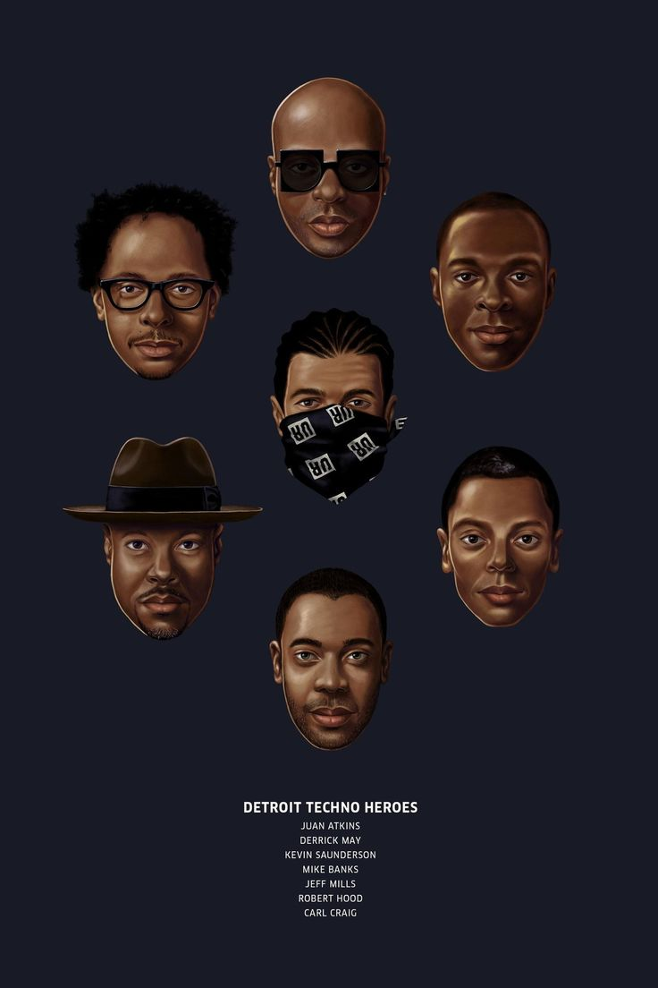 The Illustrated Pantheon of Detroit Techno | Red Bull Music Academy Daily