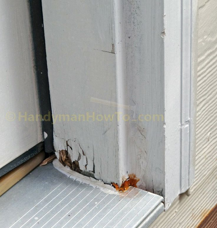 How To Repair A Rotted Exterior Door Frame Handymanhowto