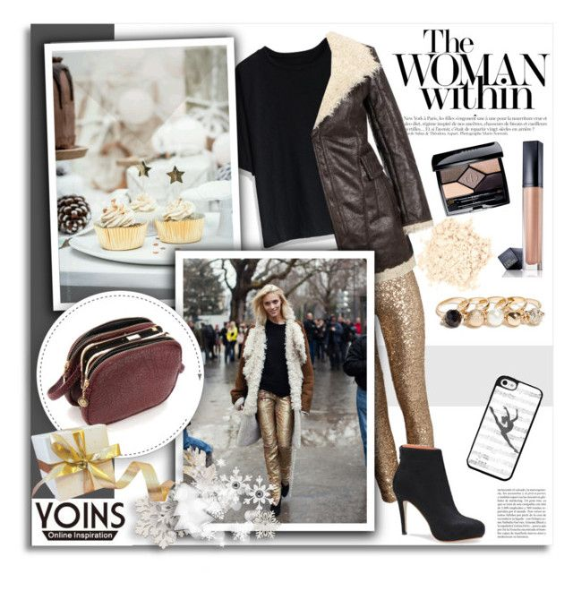 """Shop - Yoins"" by melissa-de-souza ❤ liked on Polyvore featuring Chicwish, Anja, H&M, Laura Mercier, Woman Within, Estée Lauder, Christian Dior, GUESS, Music Notes and yoins"