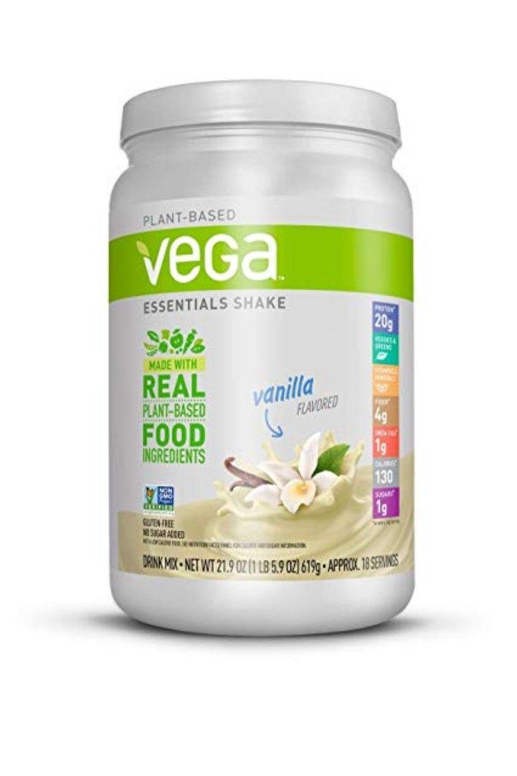 Vega Essentials Shake Vanilla 18 Servings 21 9 Ounce Plant Based Vegan Protein Powder Plant Based Protein Powder Vegan Protein Powder Plant Based Protein
