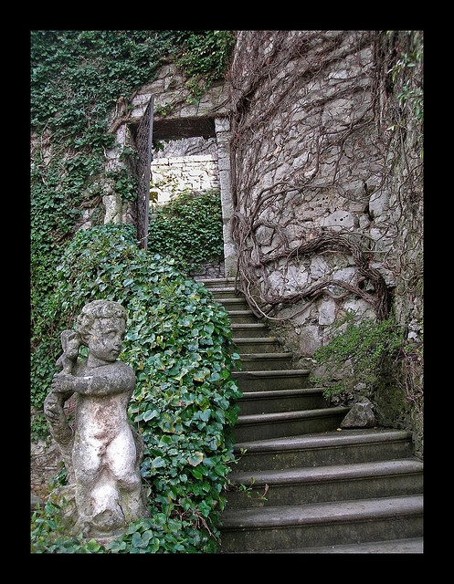 Exterior Stairway, Castle of Duino - Trieste, Italy