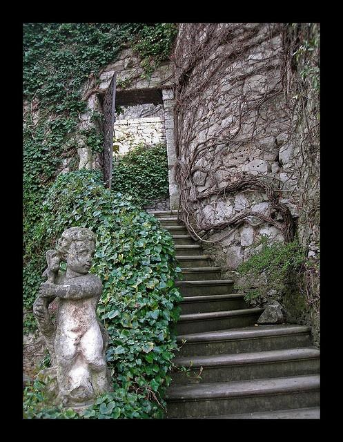 Exterior Stairway, Castle of Duino - Trieste, Italy