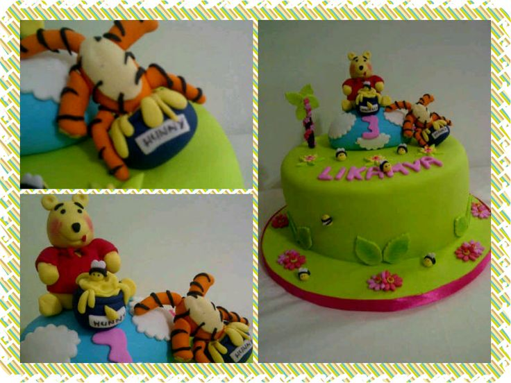 Winnie the pooh cake. This is such a cute one. Like tiger in the honey pot