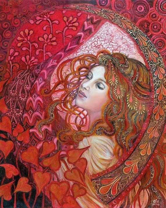Aphrodite - Art Nouveau Love Goddess   By Emily Balivet   8x10 Print. $15.00, via Etsy.