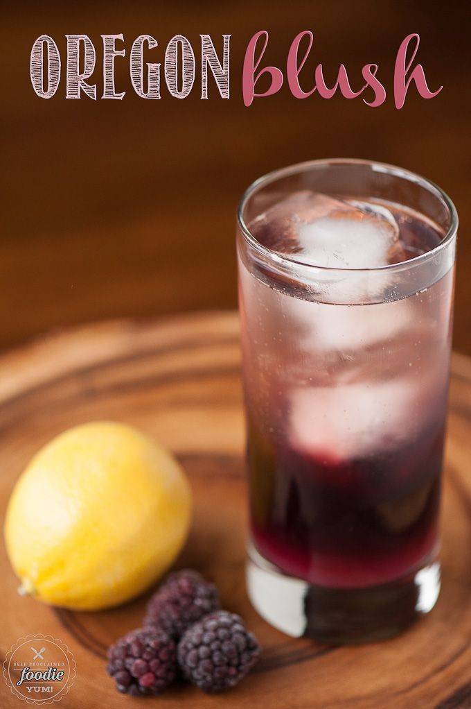 Oregon Blush is a delicious cocktail perfect for Valentine's Day made from marionberry infused vodka with lemon juice, simple syrup, and champagne.
