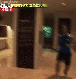 Lee Joon knows what true terror is. Running into Jong Kook. Lol.