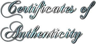 Many artists use certificates of authenticity  as a means of adding facts about an artwork, and to prove its authenticity . The certificates...