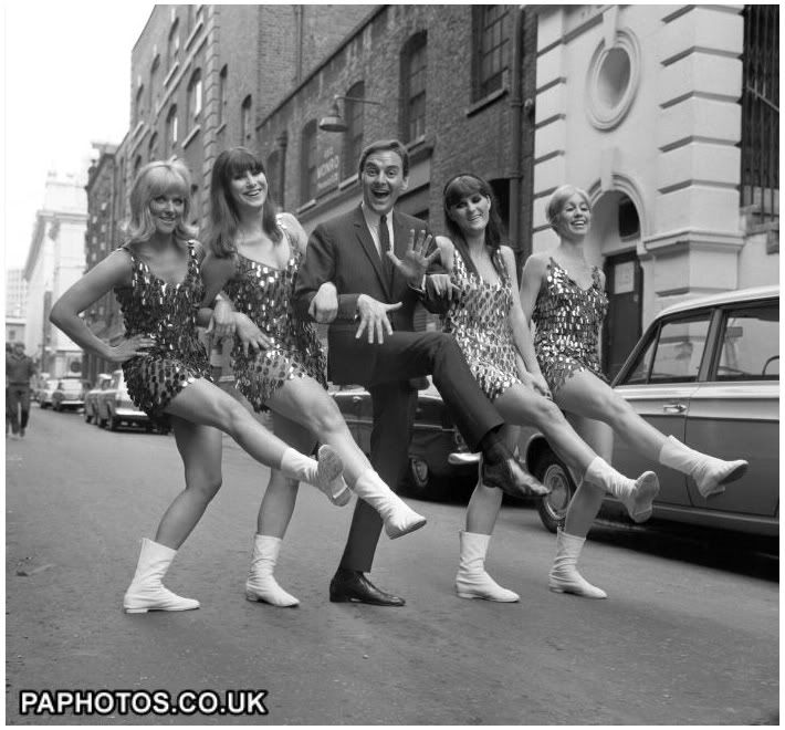 Sixties | Bob Monkhouse with dancers, the Beat Girls, 1967