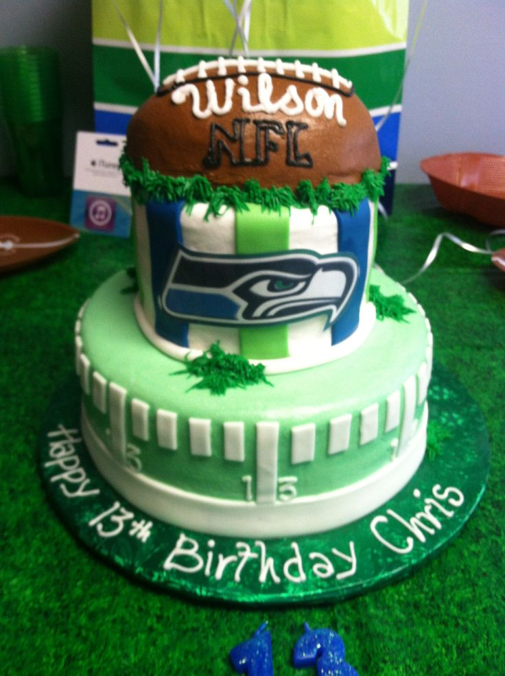 seattle seahawks birthday cake