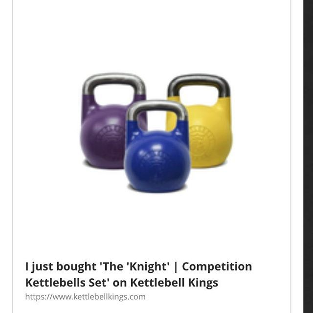 The 'Knight' | Competition Kettlebells Set