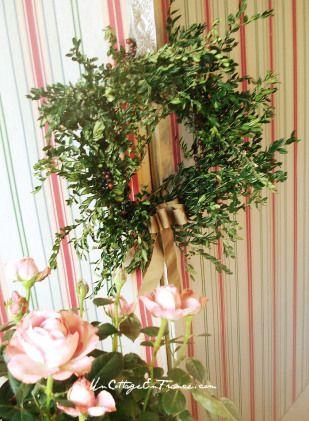 Couronne de buis du jour de l'an - Boxwood wreath for the new year