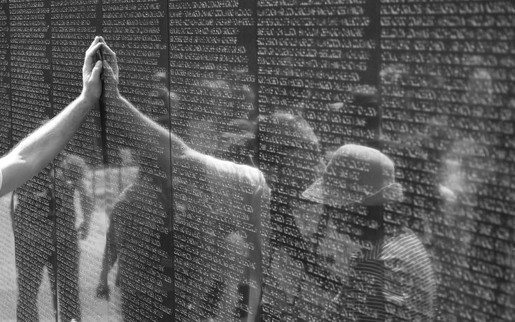 War memorial reflections, Washington DC