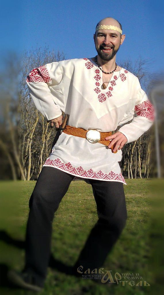 Slavic Man shirt Bright light