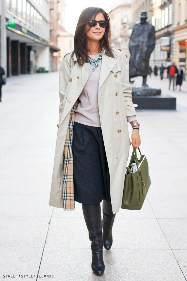#trench coat, #burberry #streetstyle Zagreb, photo by ...
