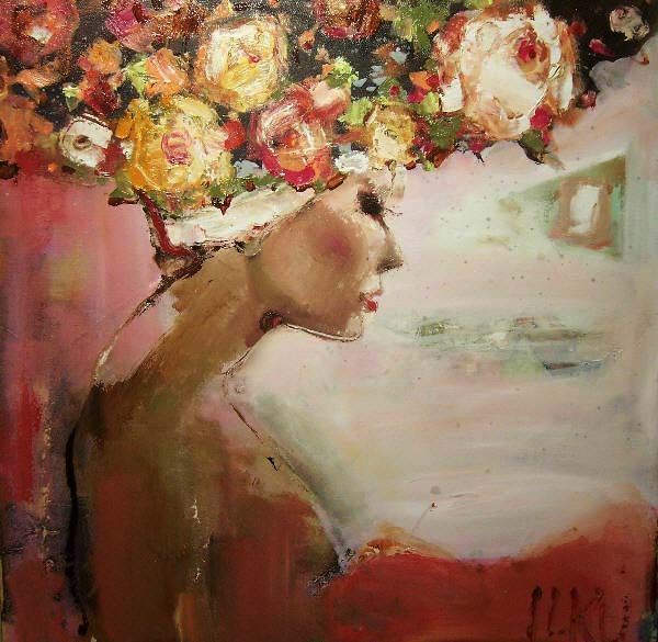 beautifulVie En, Ilku Painting, Art Inspiration, Elena Ilku, En Rose, Rose H Painting, La Vie, Elanas Ilku, Art Illustration
