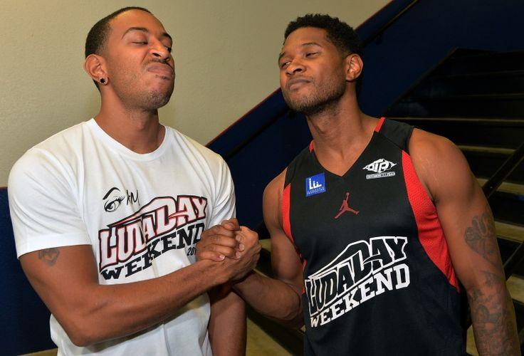 Ludacris And Usher | GRAMMY.com: Music Records Artists, Favorite Artists, Team Ushers, Team Ludacris, Ludacris Photos, Celebrity Basketb, Things Ushers, Neuro Drinks, Weekend Celebrity