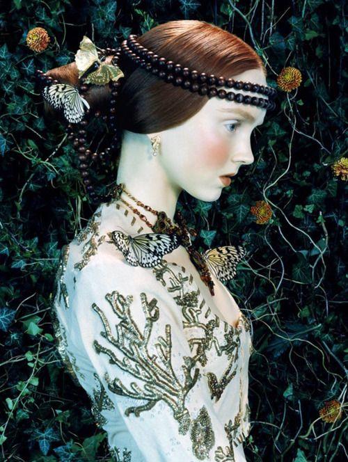 'Like a Painting'   Vogue Italia February 2005  model - Lily Cole   photographer - Miles Aldridge