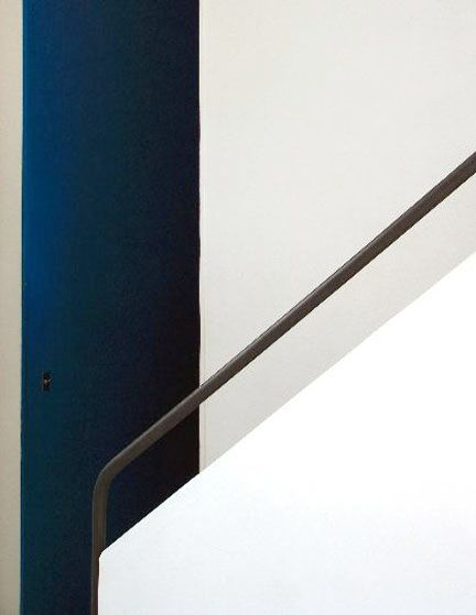 A staircase detail from the Villa Savoye by Le Corbusier, 1929