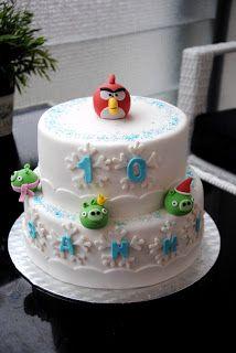 Homemade by MI: Sannin Angry Birds kakku / Angry Birds cake for Sa...