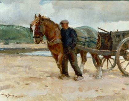 Jan Willem 'Willy' Sluiter 1873-1949Schelpenvisser in de duinen