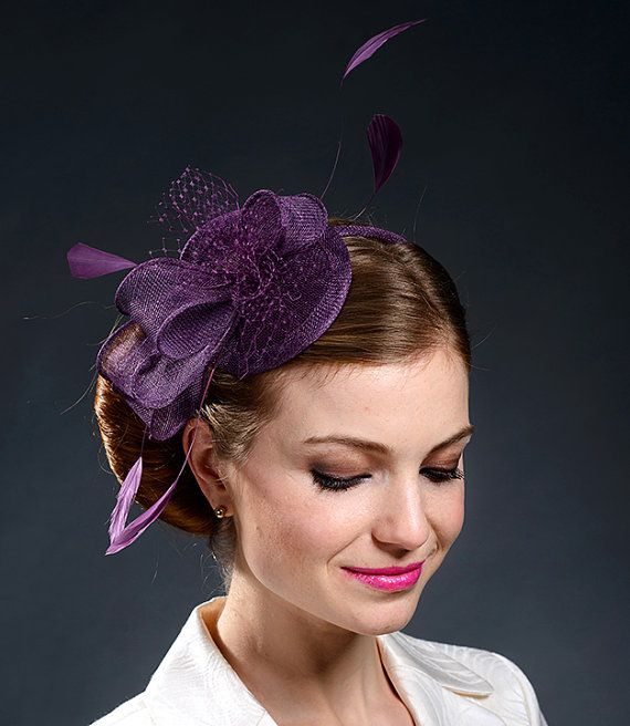 Purple fascinator for weddings, Ascot, Derby, parties-New fascinator from my 2015 collection