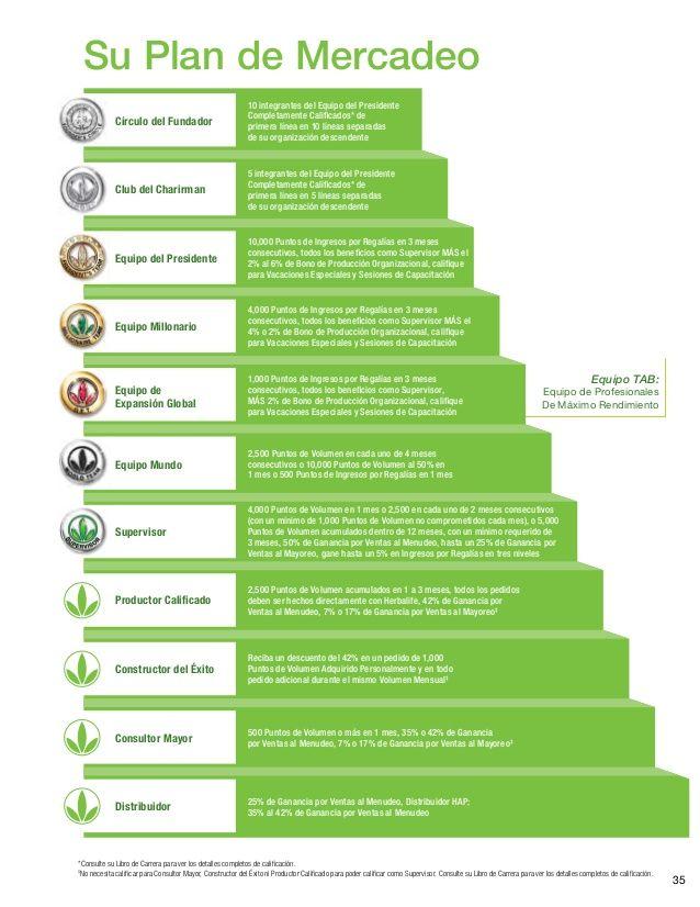 35 Su Plan de Mercadeo 10 integrantes del Equipo del Presidente Completamente Calificados* de primera línea en 10 líneas s...