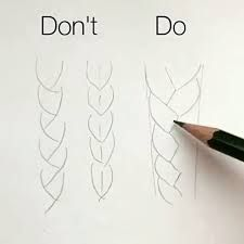 lær at tegne hår