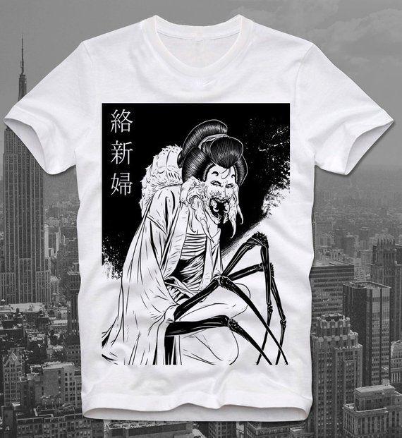 1fb0bcf196f Jorogumo Japan Japanese Anime Manga Horror Guro Gothic Spider Woman Junji  Ito Maruo T Shirt Tee - 100% Premium Cotton - Eco Friendly DTG Print - US  Sizes ...