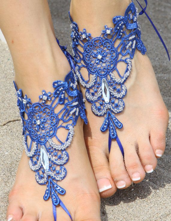 Free Ship lace sandal navy blue sandals navy blue by UnionTouch