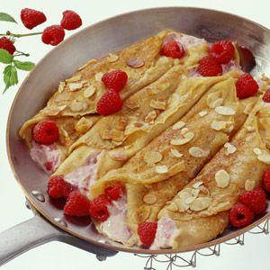 Raspberry Quark Pancakes