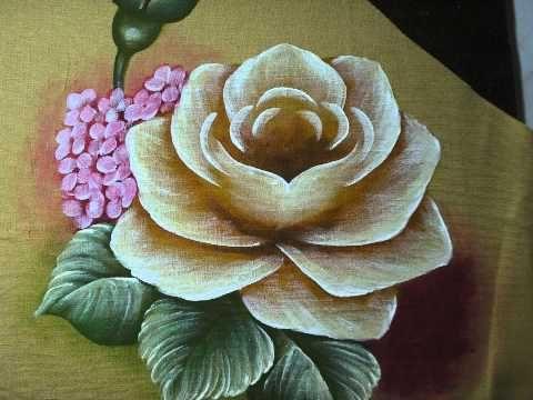 pintura em tecido flores - Buscar con Google