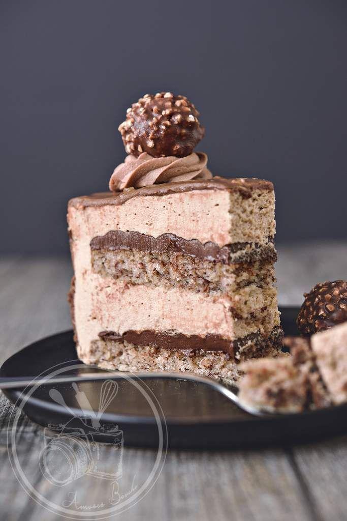Ferrero cake [Joconde Biscuit, Praline Mousse]