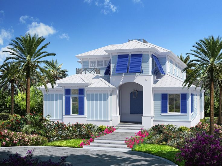 New construction beach house in olde naples contemporary for Beach house look
