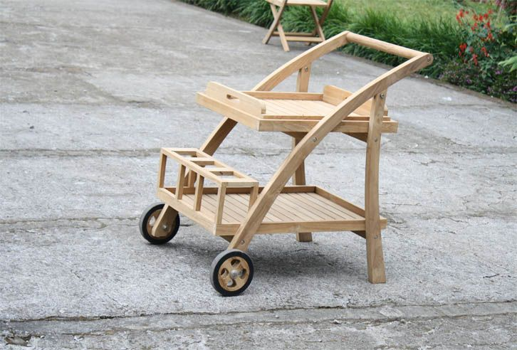 Pool Trolley. Make your pool party or your outdoor party more practice with Teak Pool Trolley from www.segoromas.com #pool #trolley #teakfurniture #teakwood #outdoor