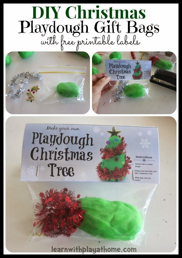 "As a little end of year gift for the children in Maddie's preschool class, we made some lovely little ""Make your own Playdough Christmas tree"" bags. They are a fun, different and economical gift for kids."