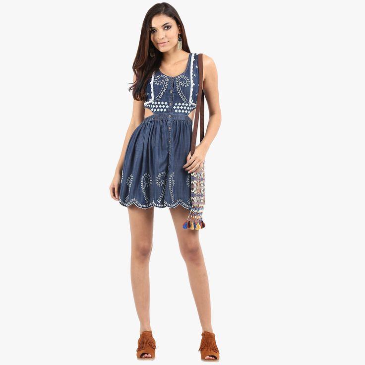 Irsia Cutaway Denim Dress